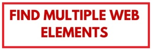 find multiple web elements