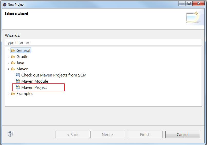 1. select maven project