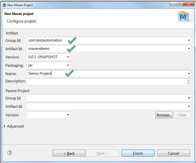 3. configure maven project